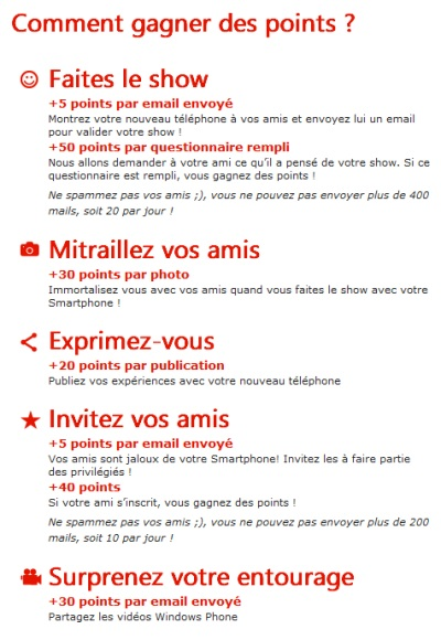 Comment gagner des points sur le concours Lumia 800 - try and like it
