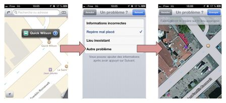 iPhone - Plan - Yelp - iOs - Modifications des POI