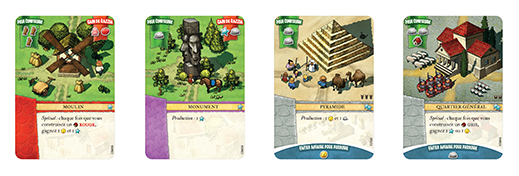 Settlers Naissance d'un empire - Cartes factions