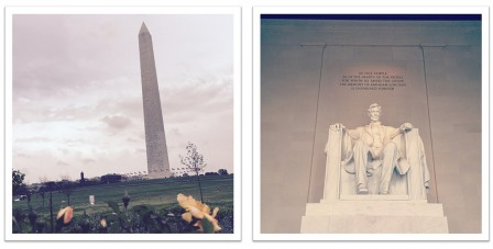 Washington Monument et Lincoln Memorial