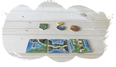Isle of Skye - On retire le paravent: on découvre les tuiles à vendre et leur prix