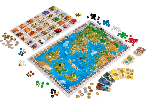 Olympos - Le plateau de jeu - Ystari