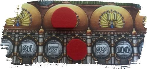 Rajas of the Ganges - Le joueur rouge termine la partie